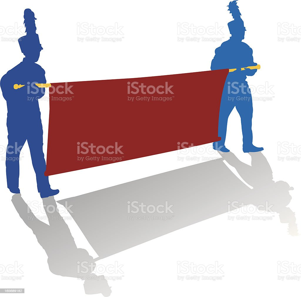 Marching Band Banner royalty-free stock vector art