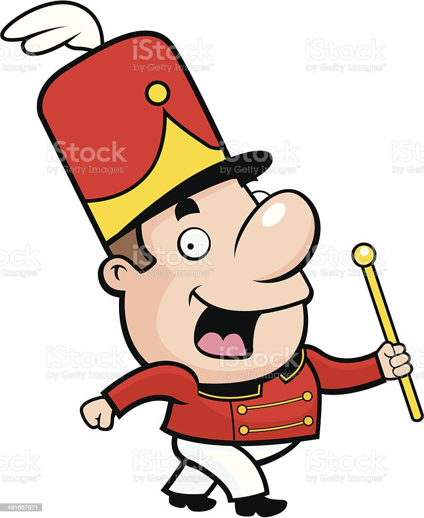 Marching Band Conductor royalty-free stock vector art