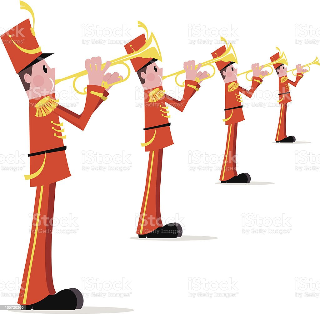 Marching Band Trumpet Line royalty-free stock vector art