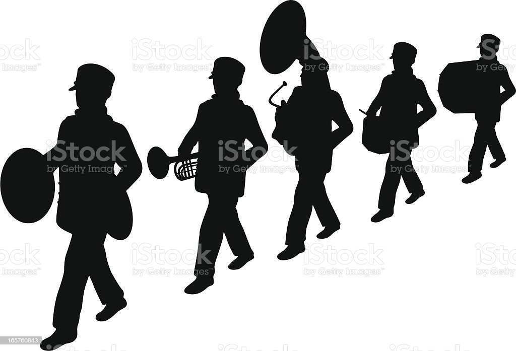 Marching Band vector art illustration
