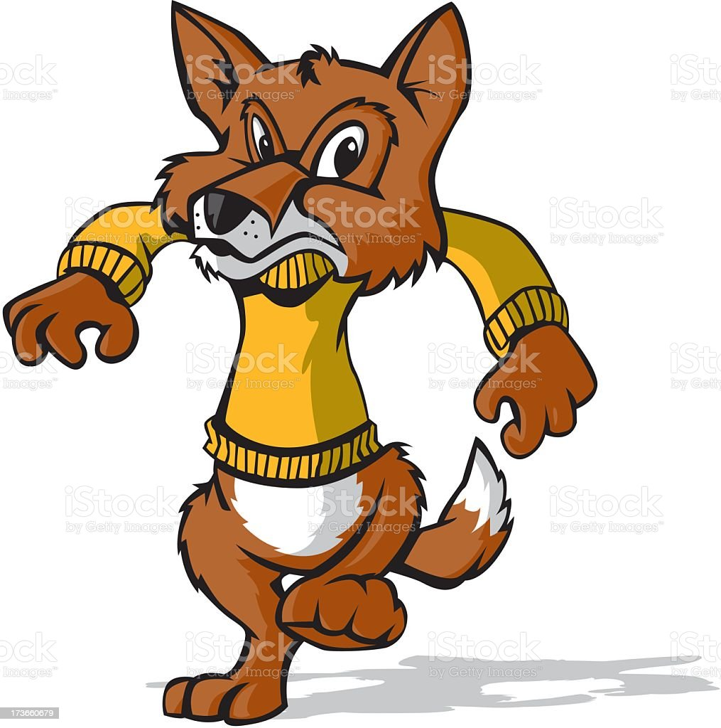 Marching Fox royalty-free stock vector art