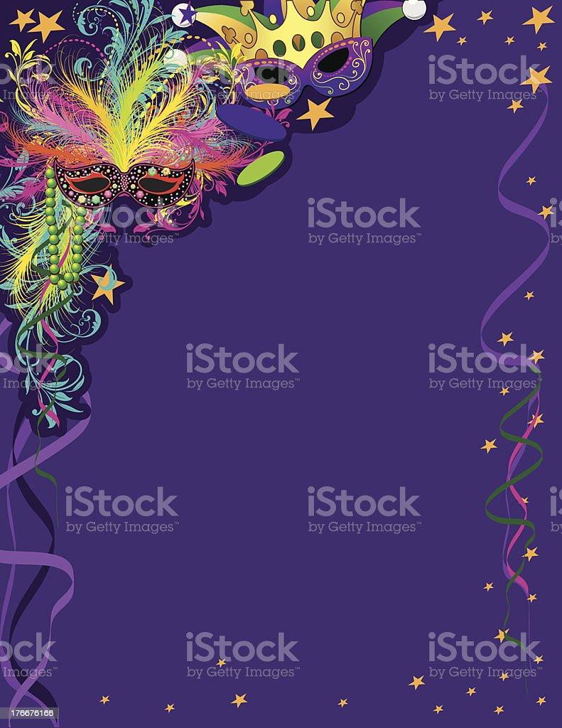 Mardi Gras Ad Page vector art illustration
