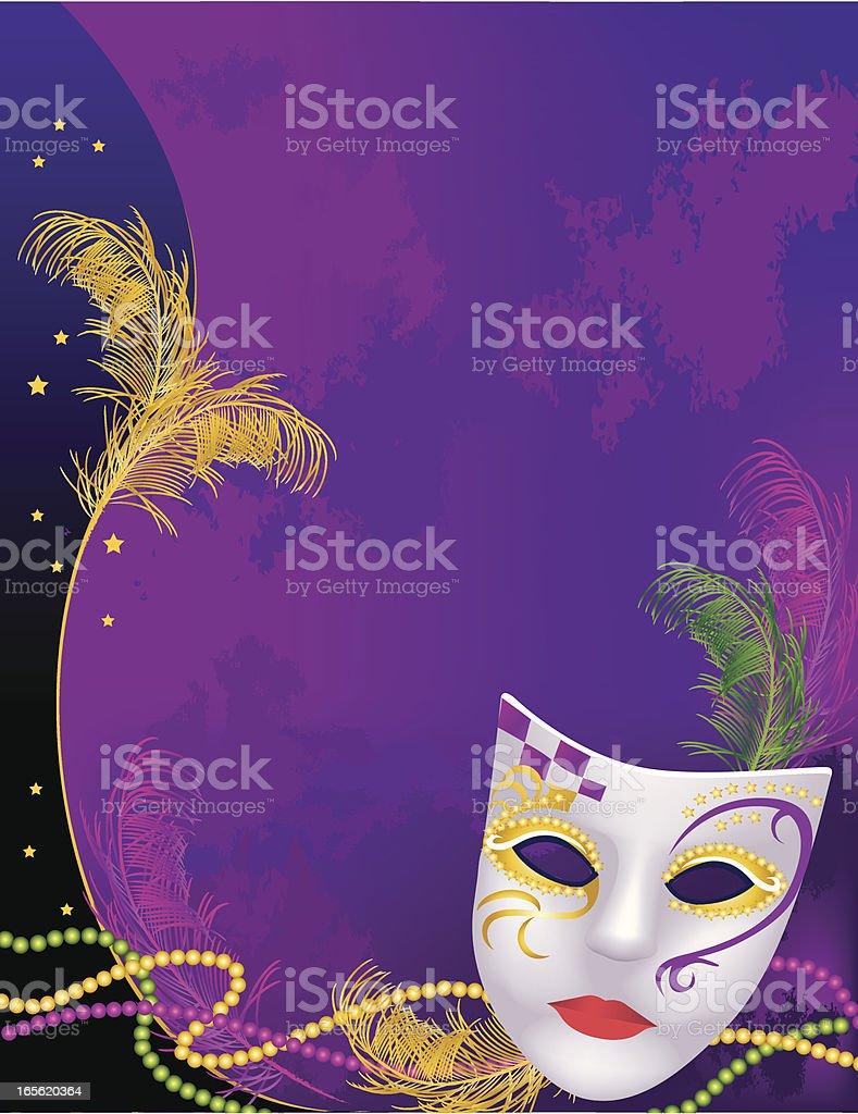 Mardi Gras Background royalty-free stock vector art