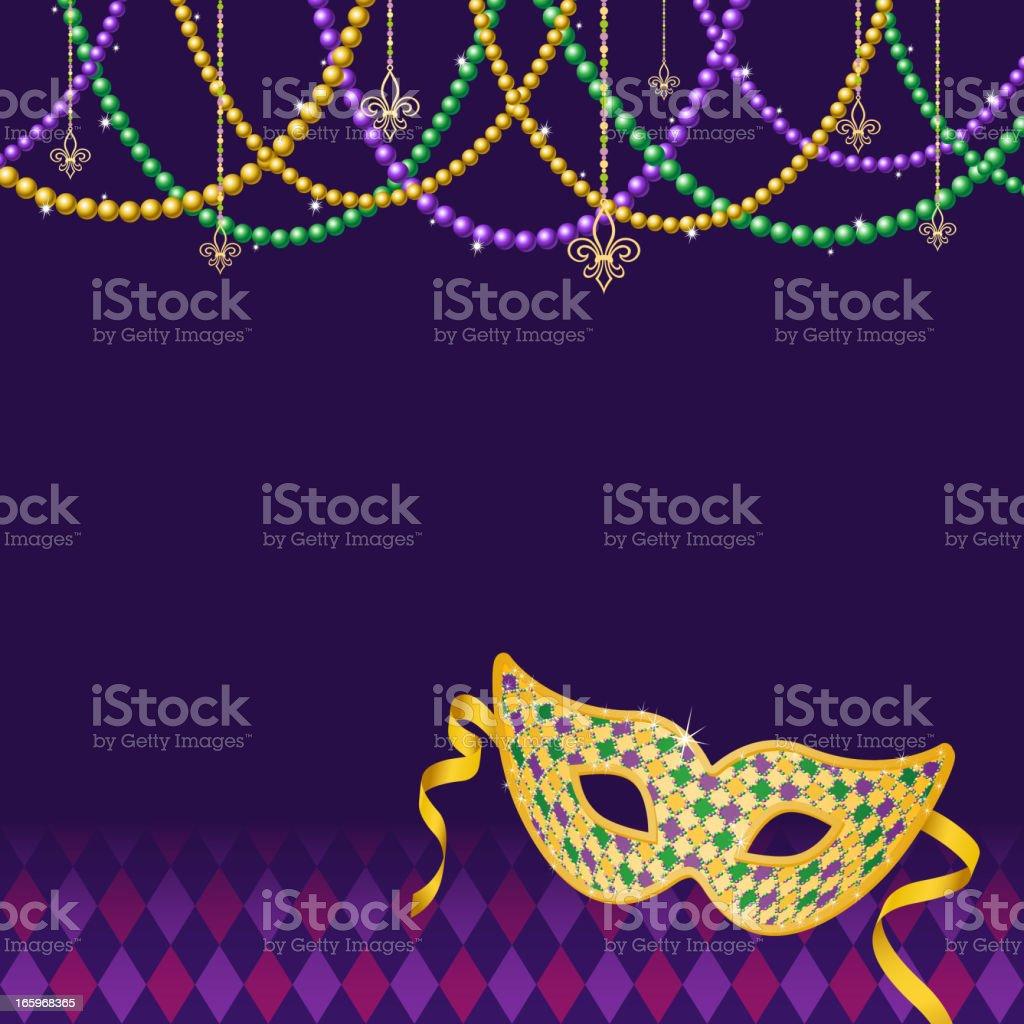 Mardi Gras Background vector art illustration
