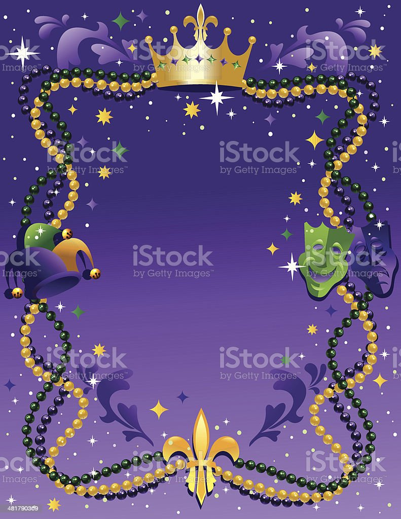 Mardi Gras Background royalty-free stock vector art