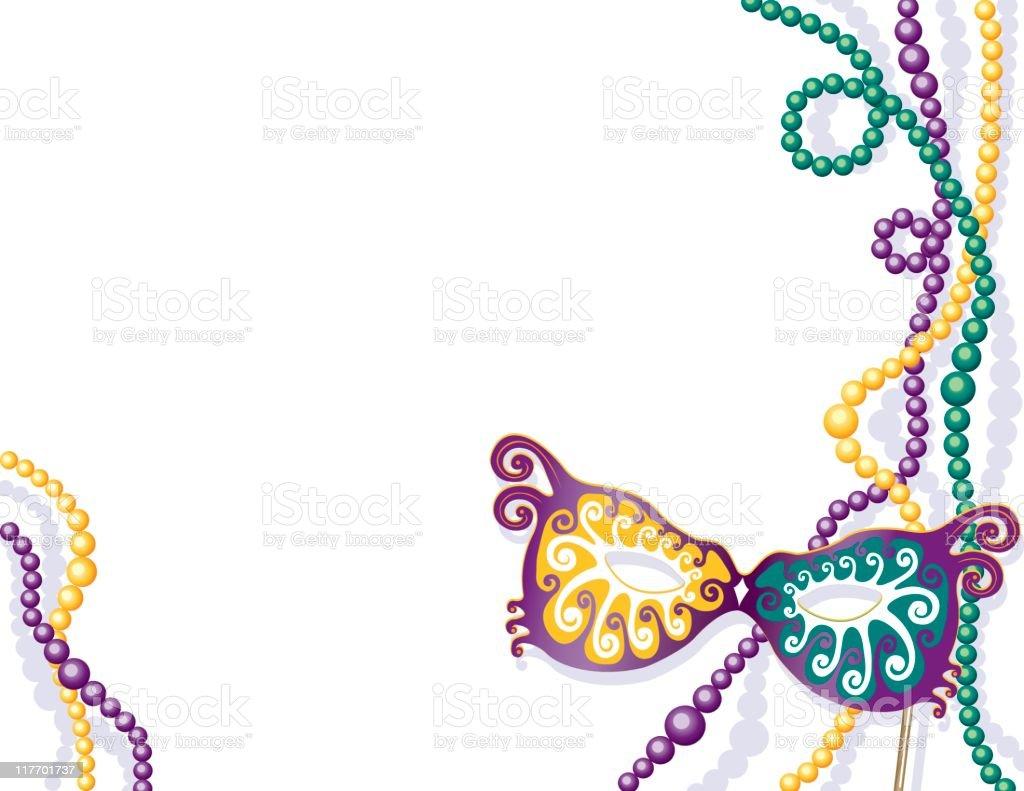 Mardi Gras Border vector art illustration