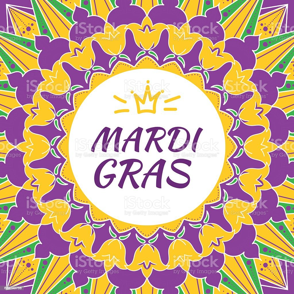 Mardi Gras carnival background vector vector art illustration