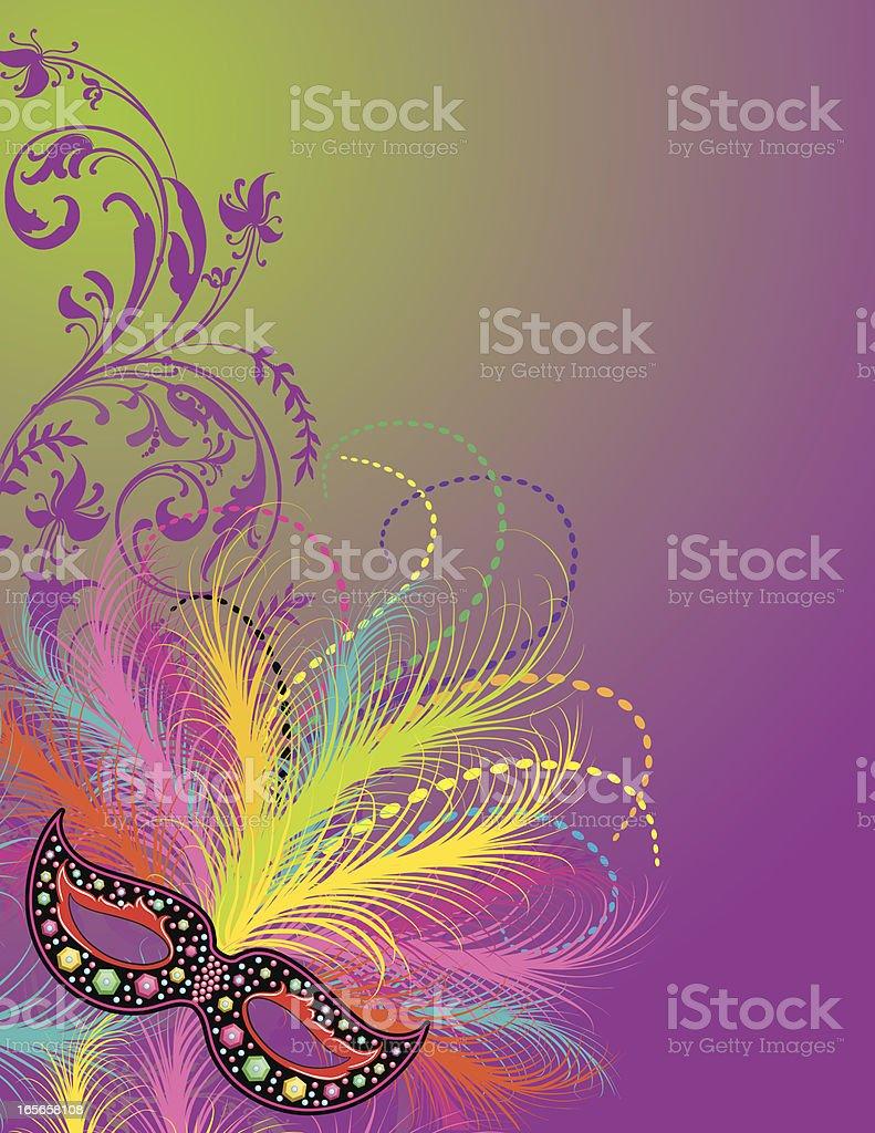 Mardi Gras celebration in purple vector art illustration