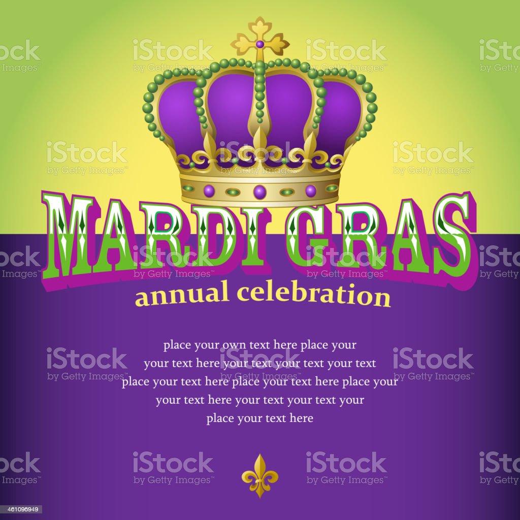 Mardi Gras Celebration royalty-free stock vector art
