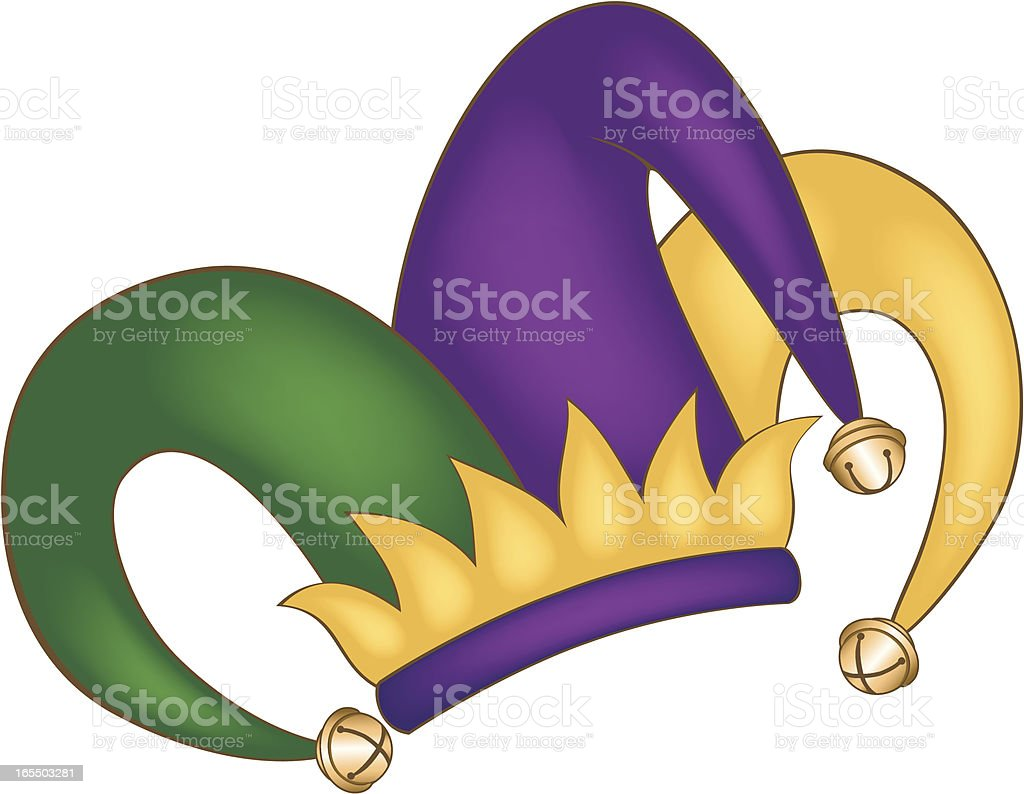 Mardi Gras Court Jesters Hat w/ Background royalty-free stock vector art