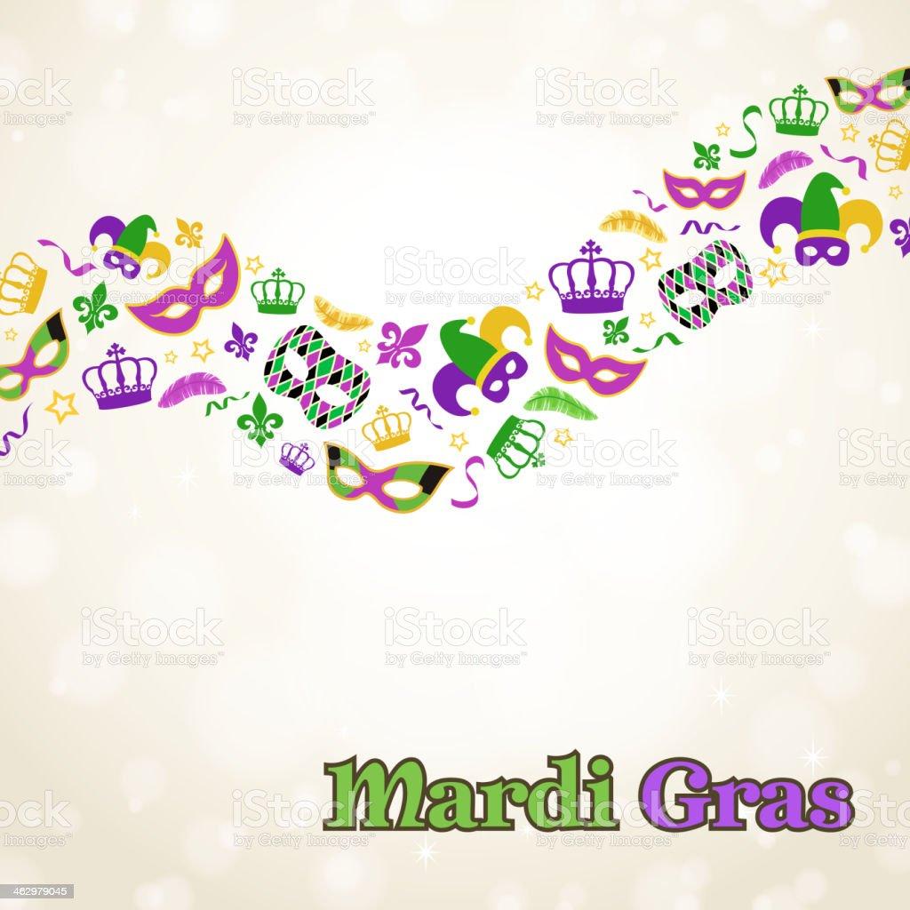 Mardi Gras Elements vector art illustration