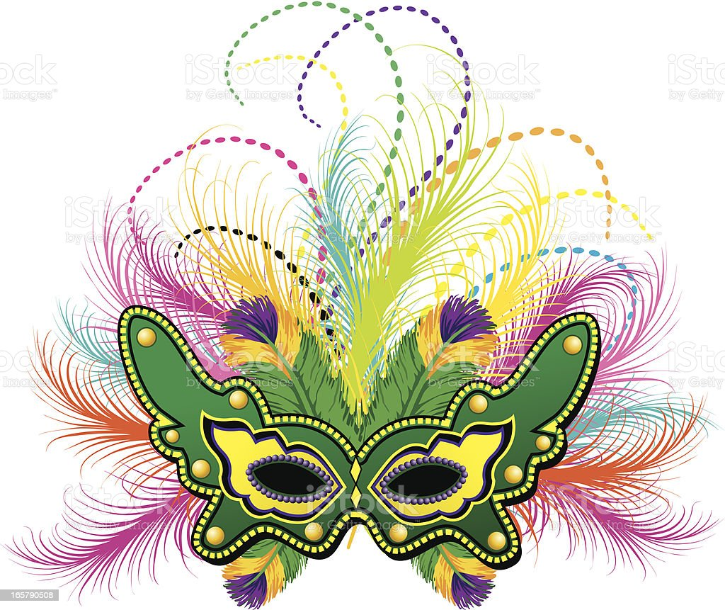 Mardi Gras Feather Mask royalty-free stock vector art