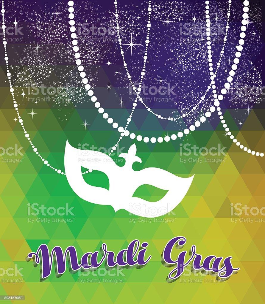 mardi gras vert et violet fond avec masque stock vecteur libres de droits libre de droits - Vert Et Violet