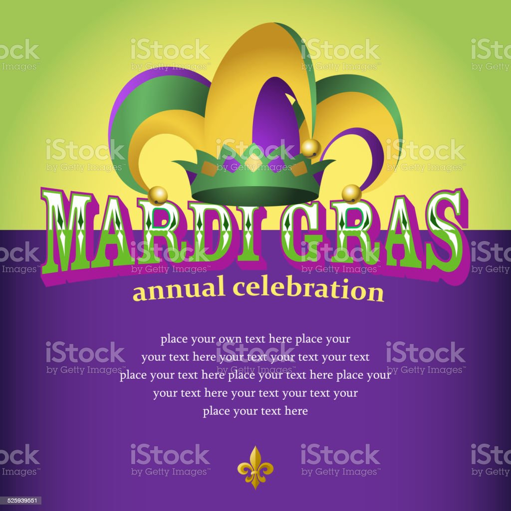 Mardi Gras Celebration vector art illustration