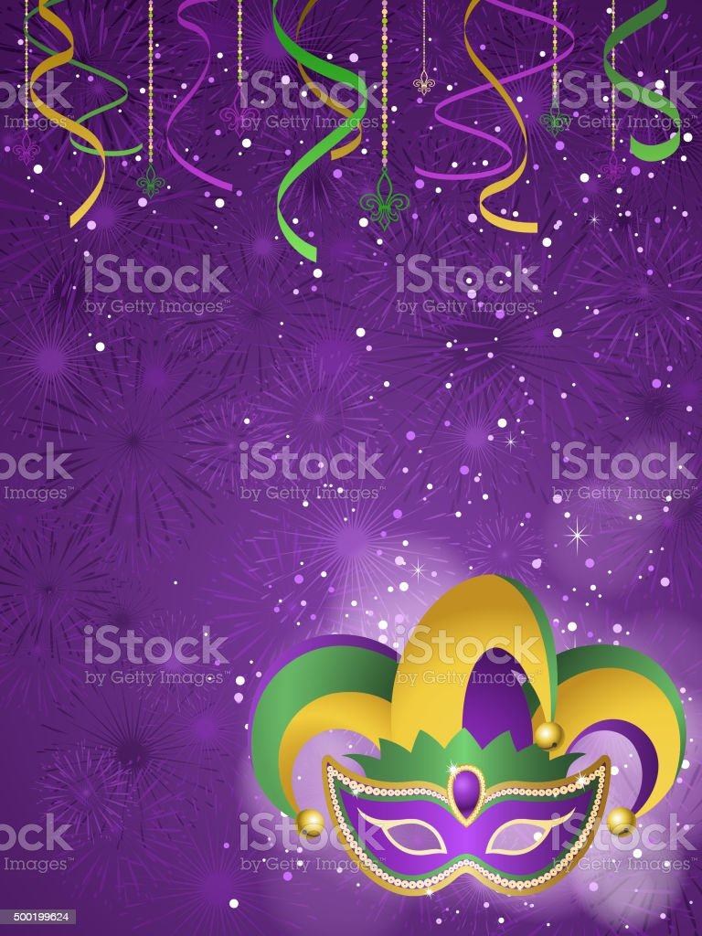 Mardi gras jester background vector art illustration