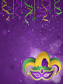 Mardi gras jester background