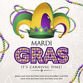 Mardi gras jester hat carnival