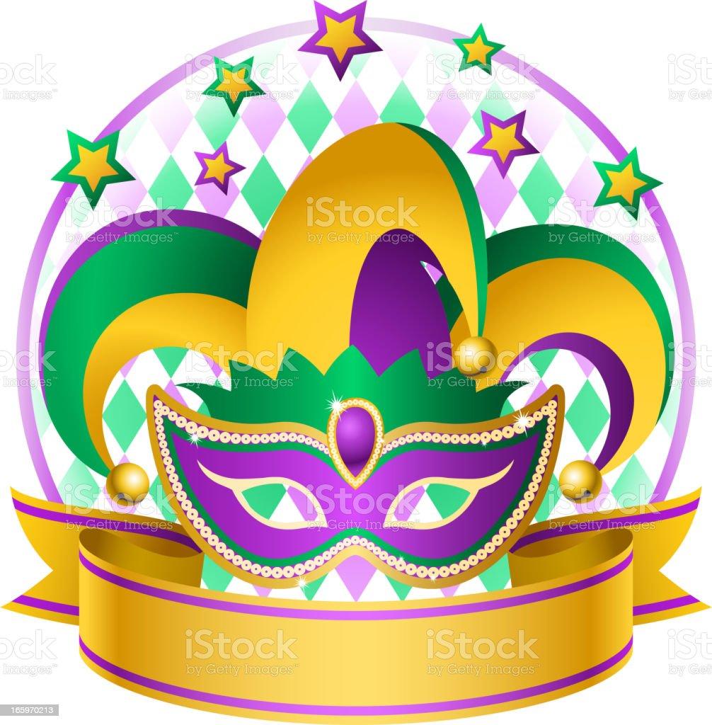 Mardi Gras Jester Hat royalty-free stock vector art