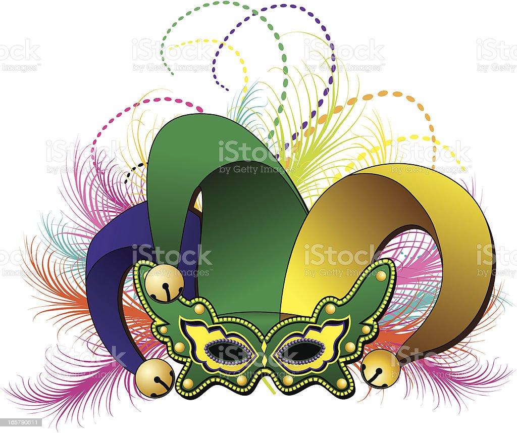 Mardi Gras Jester Mask stock vector art 165790511   iStock