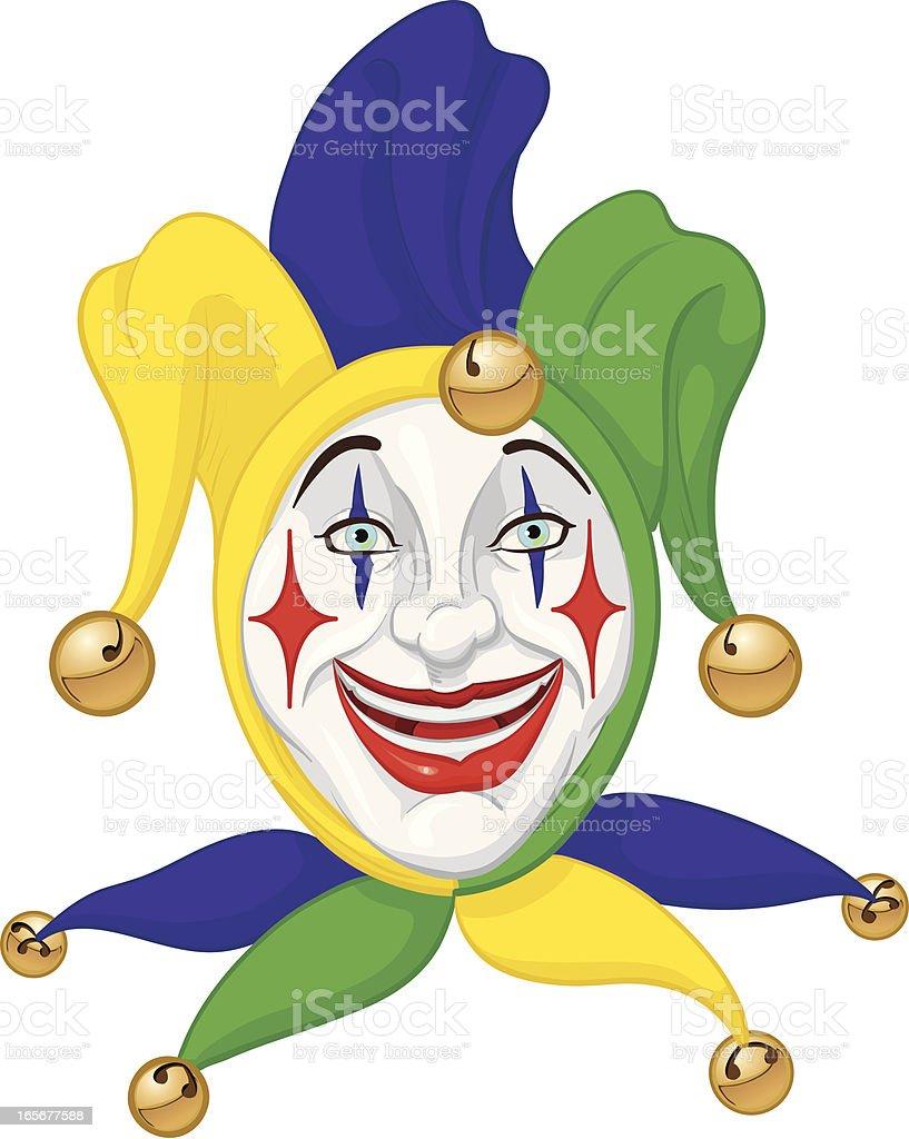 mardi gras jester royalty-free stock vector art