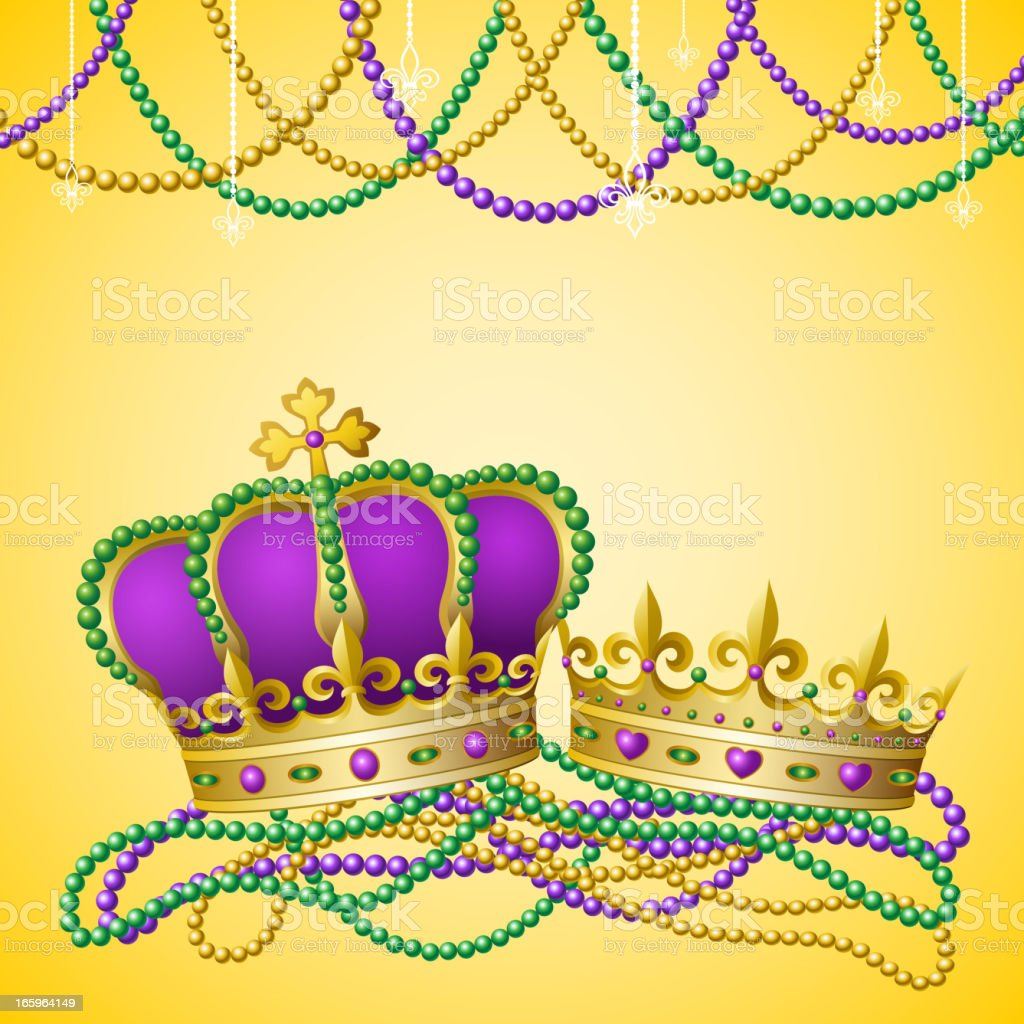 Mardi Gras King & Queen royalty-free stock vector art