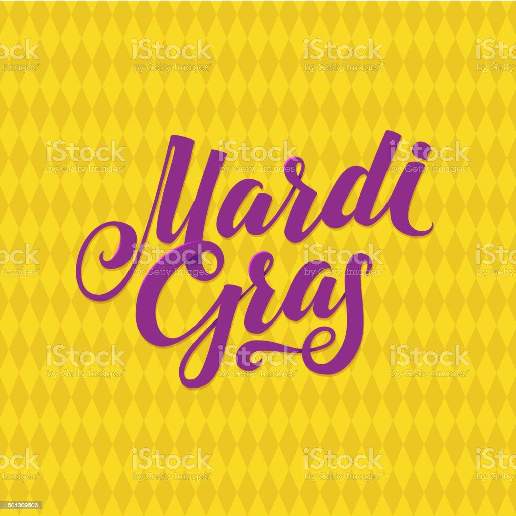 Mardi Gras Logo Calligraphic Poster vector art illustration