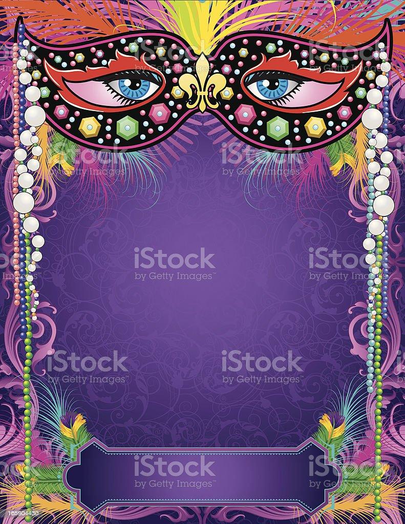 Mardi Gras Mask Banner royalty-free stock vector art