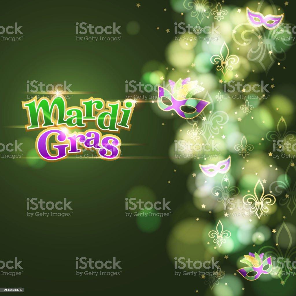 Mardi gras masquerade marks background vector art illustration