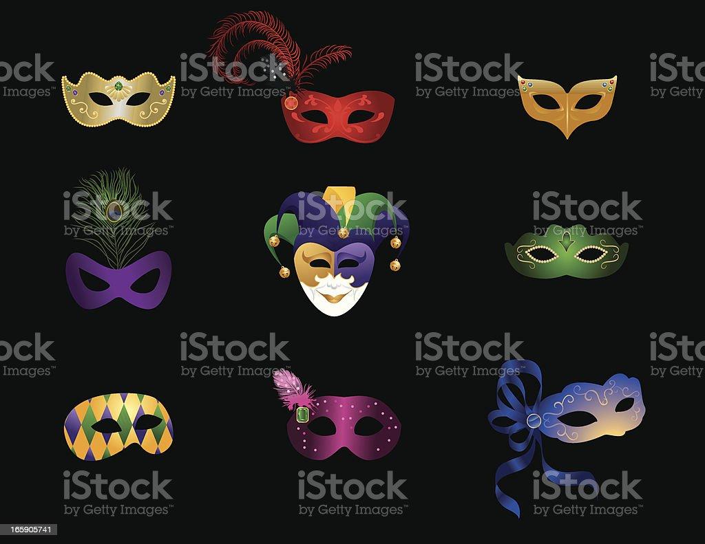 Mardi Gras / Masquerade Masks royalty-free stock vector art