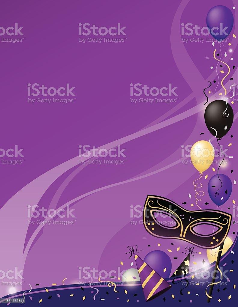 Mardi Gras Masquerade Party vector art illustration
