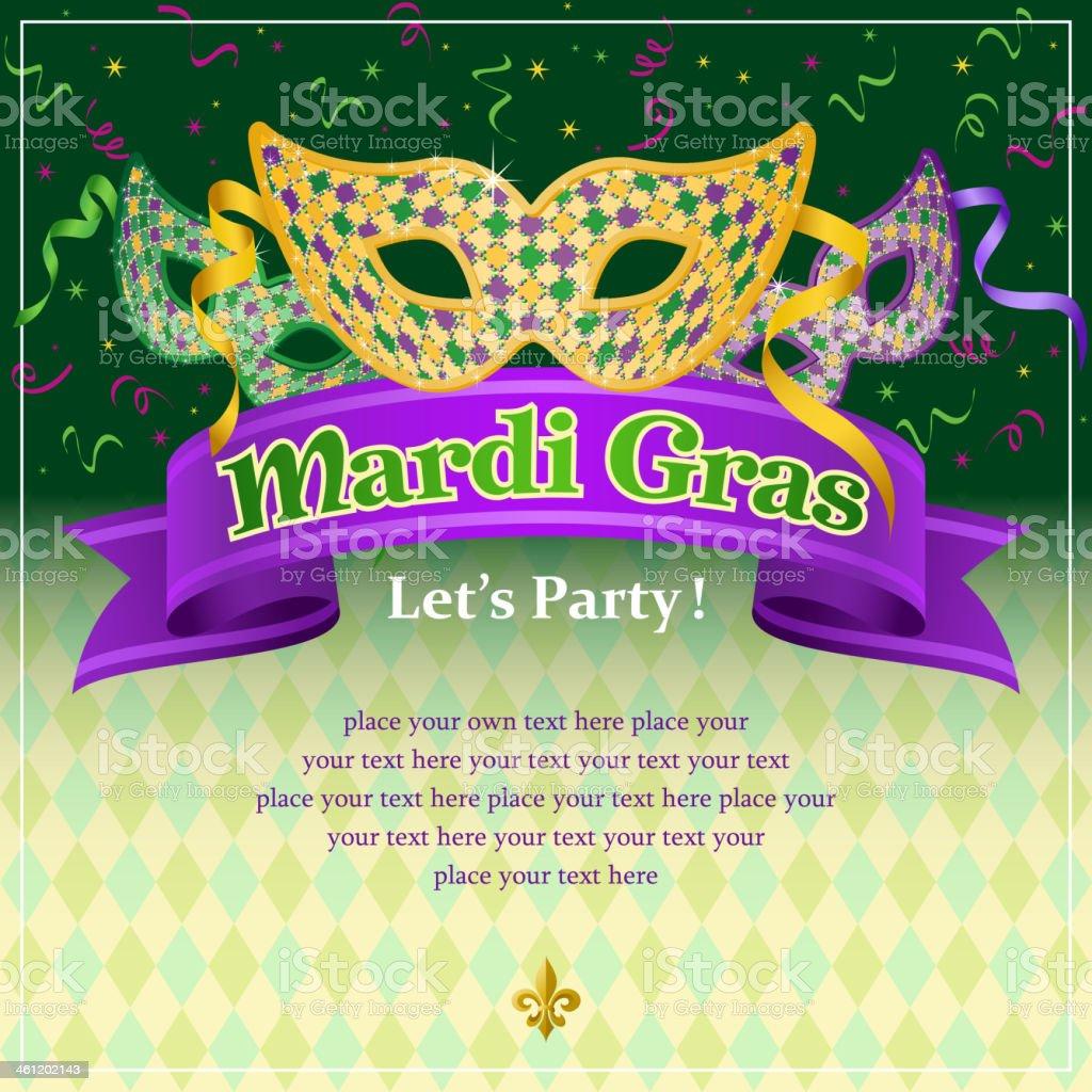 Mardi Gras Masquerade vector art illustration