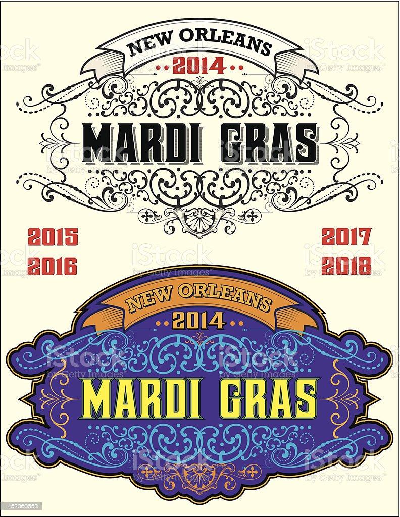 Mardi Gras New Orleans vector art illustration