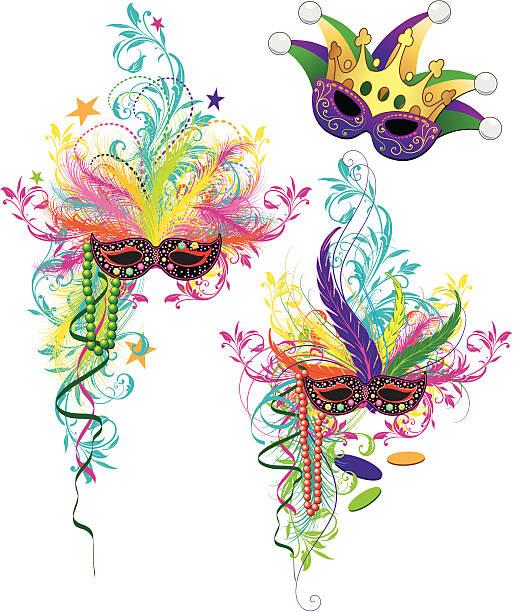 Mardi Gras Clip Art, Vector Images & Illustrations - iStock
