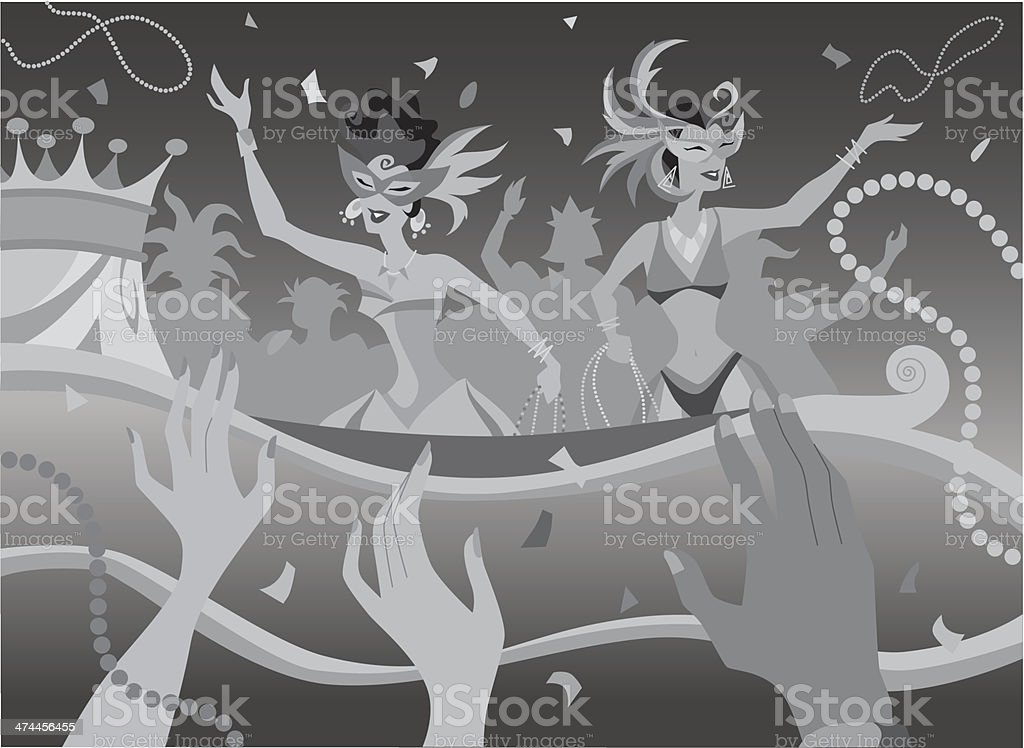 Mardi Gras Parade vector art illustration