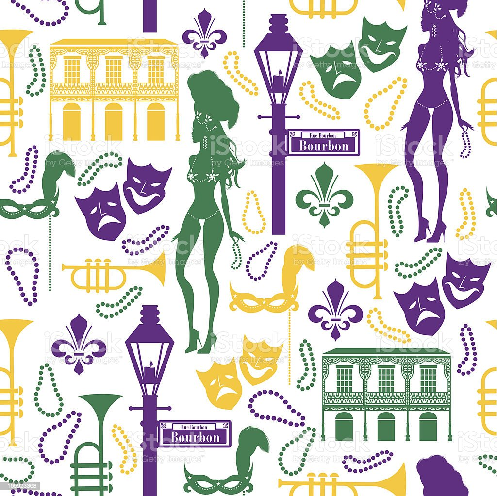 Mardi Gras Pattern vector art illustration