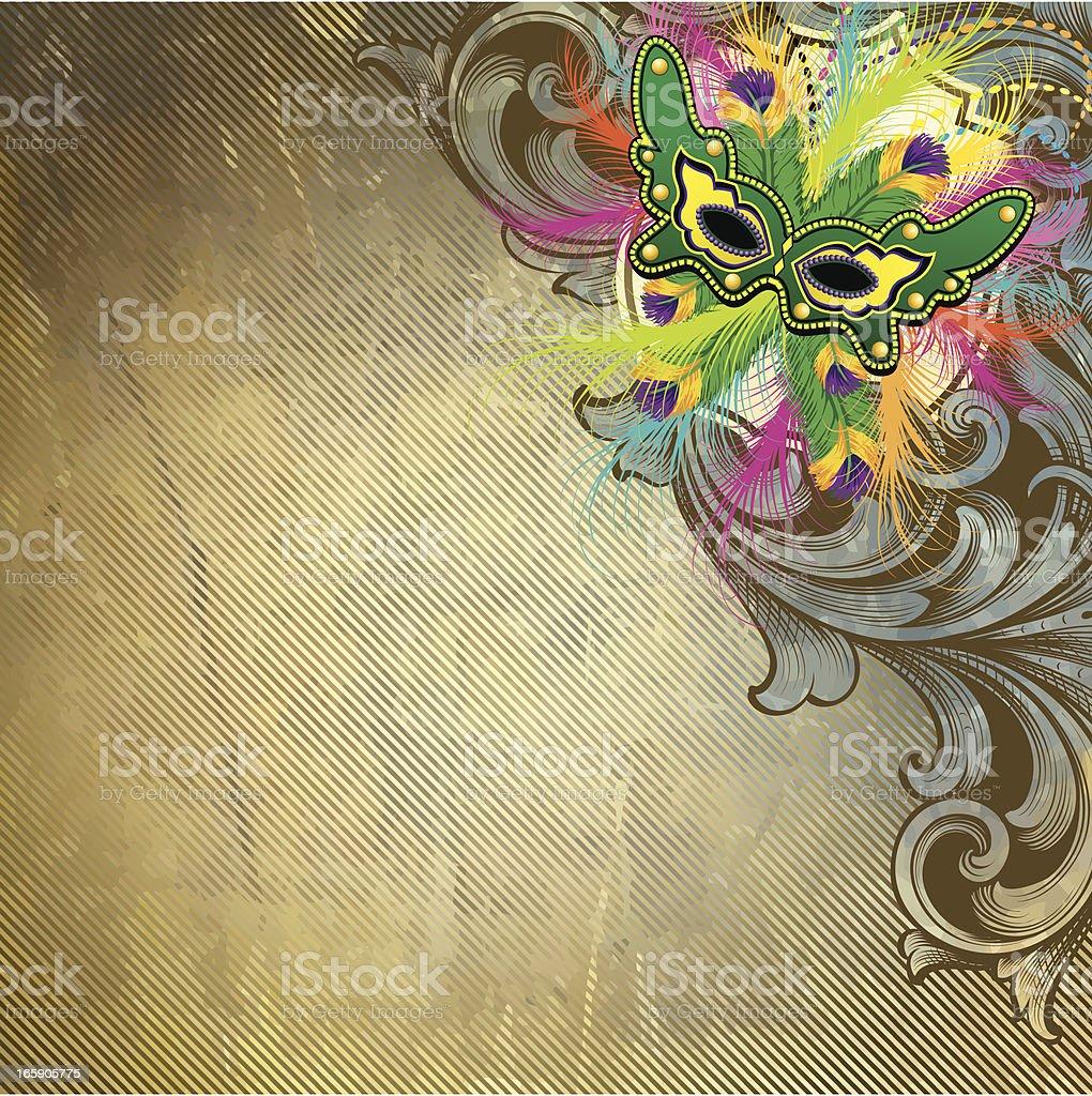 Mardi Gras Rustic Scroll royalty-free stock vector art