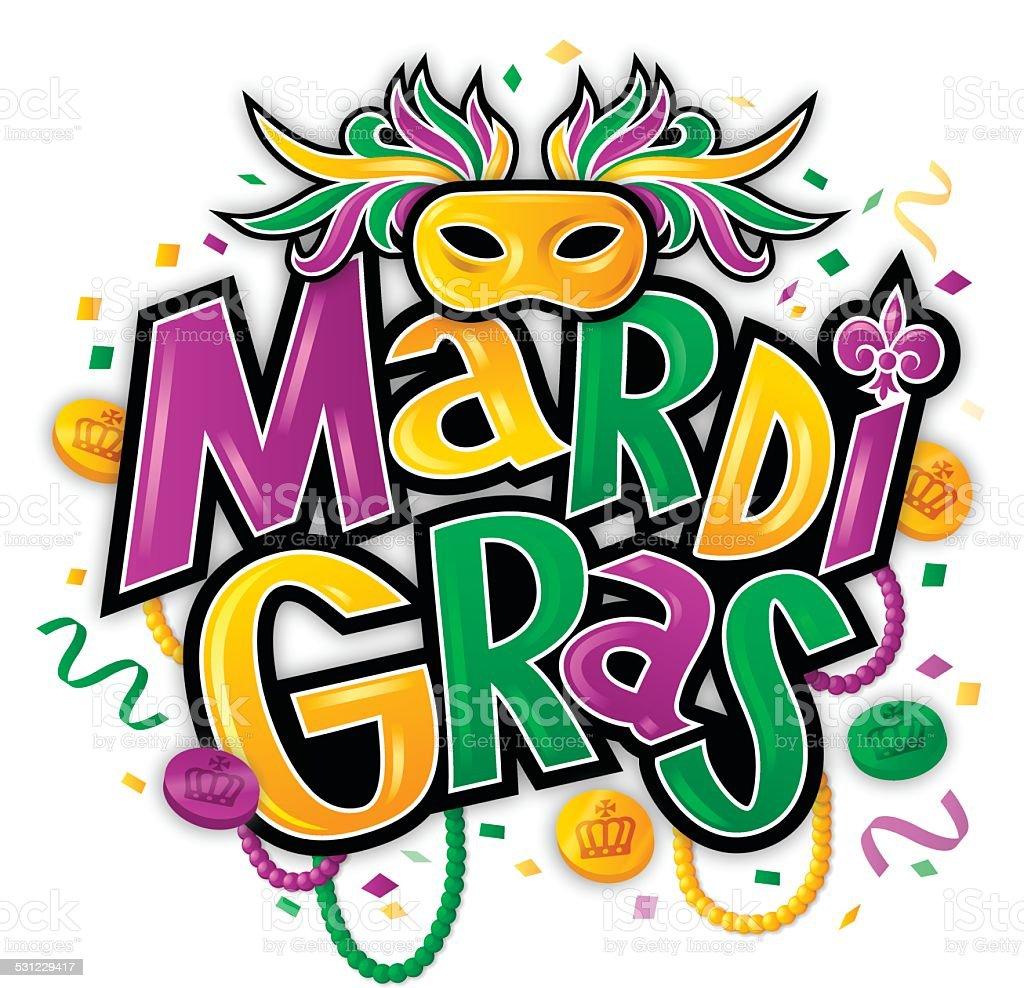 Mardi Gras vector art illustration
