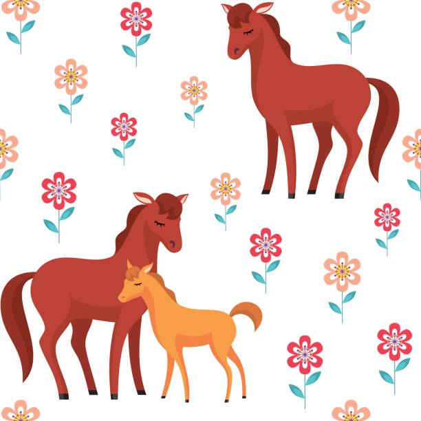 Clipart foal for Clipart mare