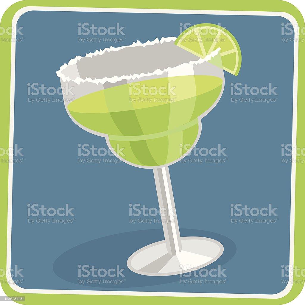 Margarita cocktail illustration vector art illustration