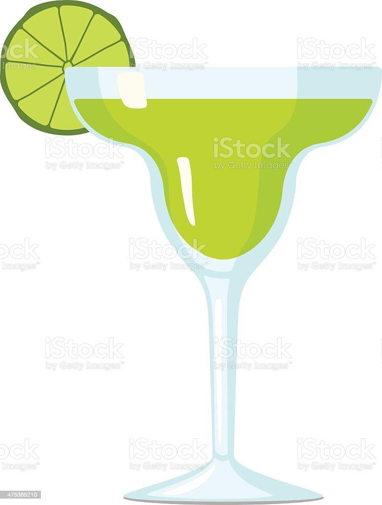 Margarita Cocktail Vector Illustration vector art illustration