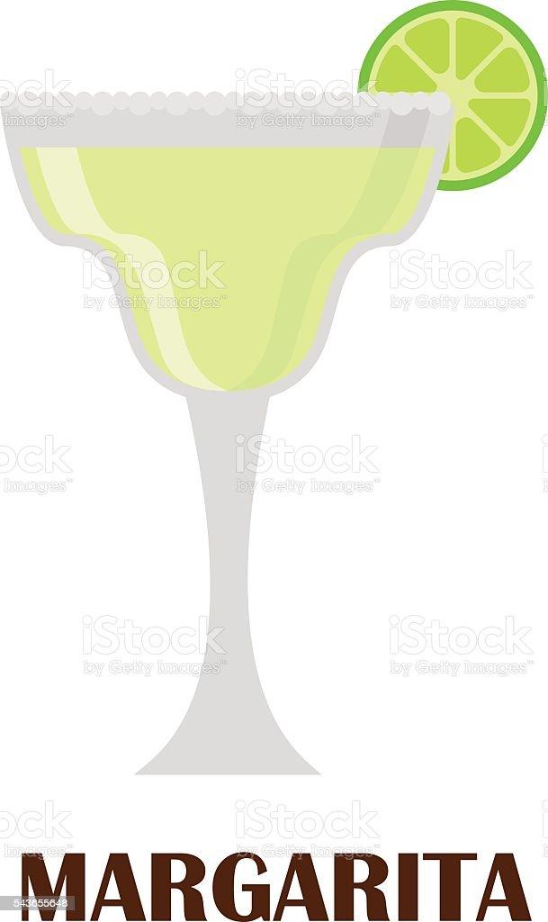 Margarita cocktail vector illustration. vector art illustration