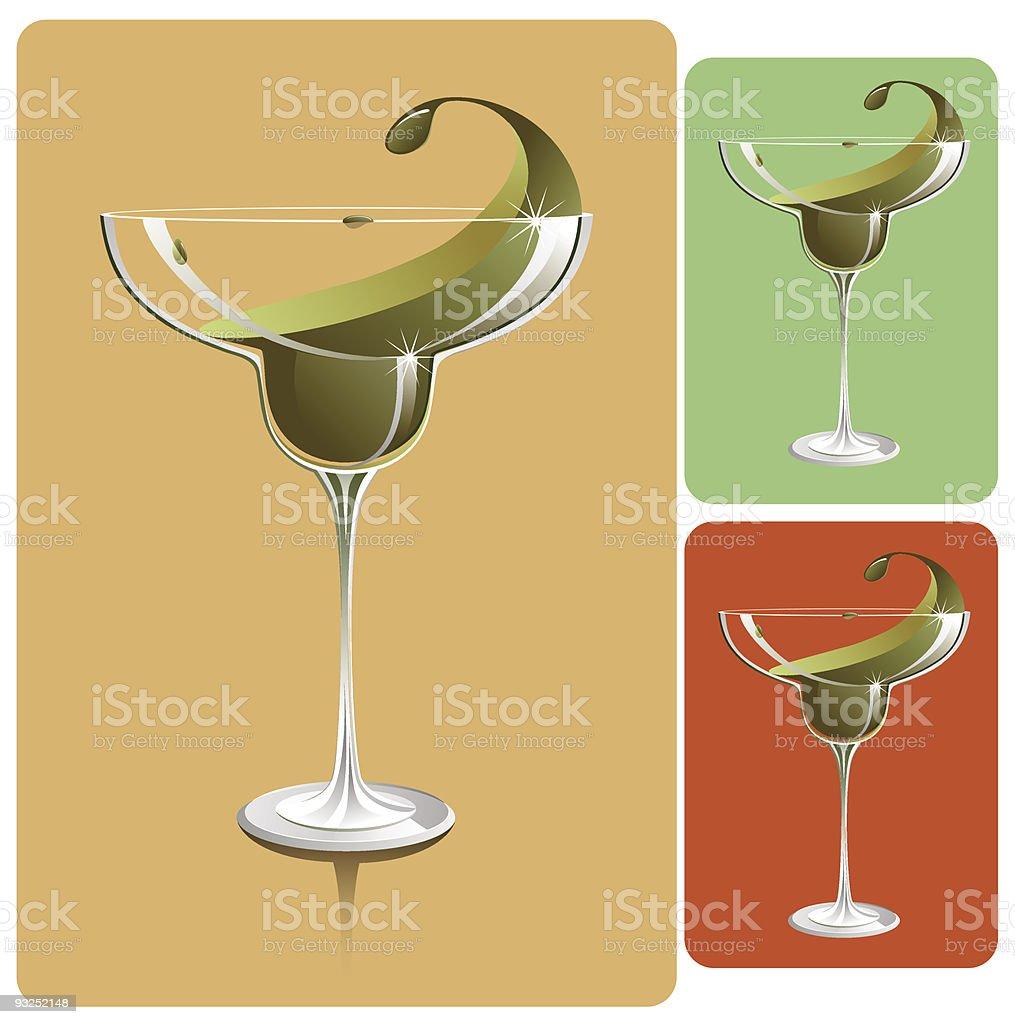 margarita glass royalty-free stock vector art