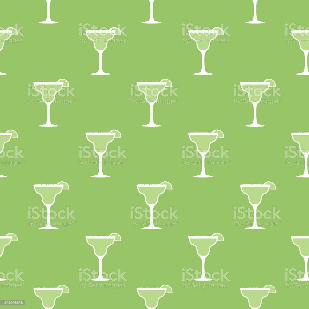 Margarita Seamless Pattern vector art illustration