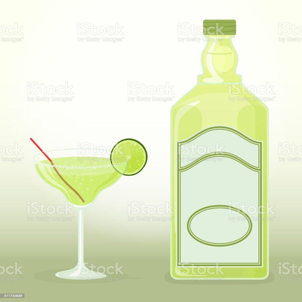 Margarita tequila vector art illustration