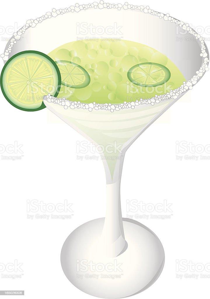 Margarita with Salt royalty-free stock vector art