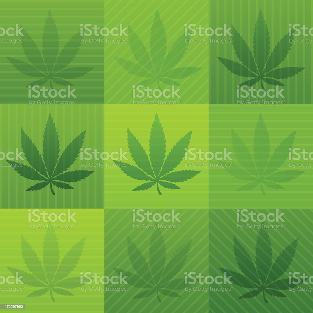 Marijuana Background royalty-free stock vector art