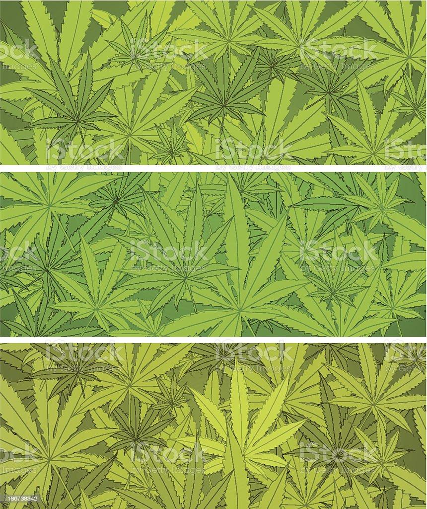 Marijuana banners royalty-free stock vector art