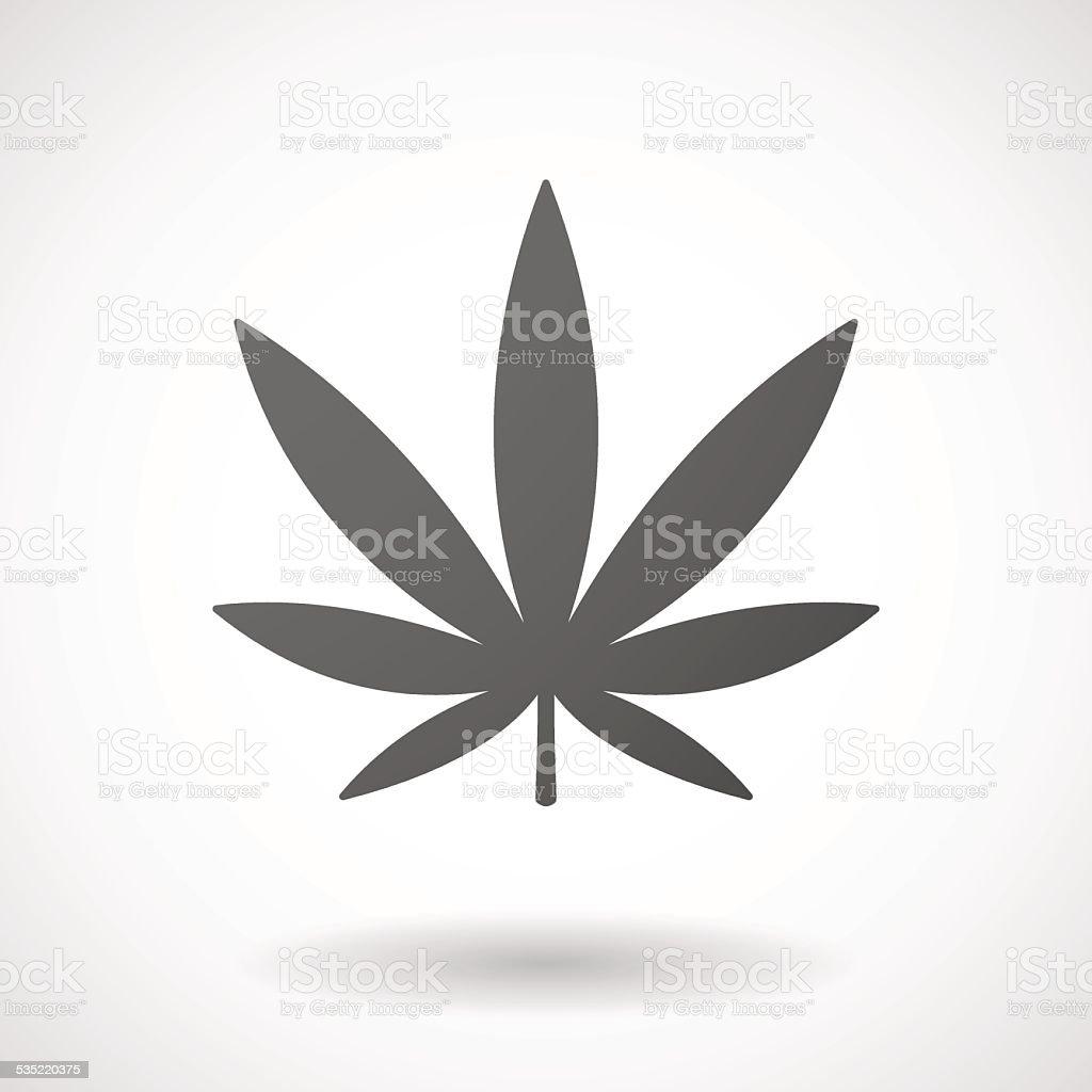 marijuana leaf  icon on white background vector art illustration