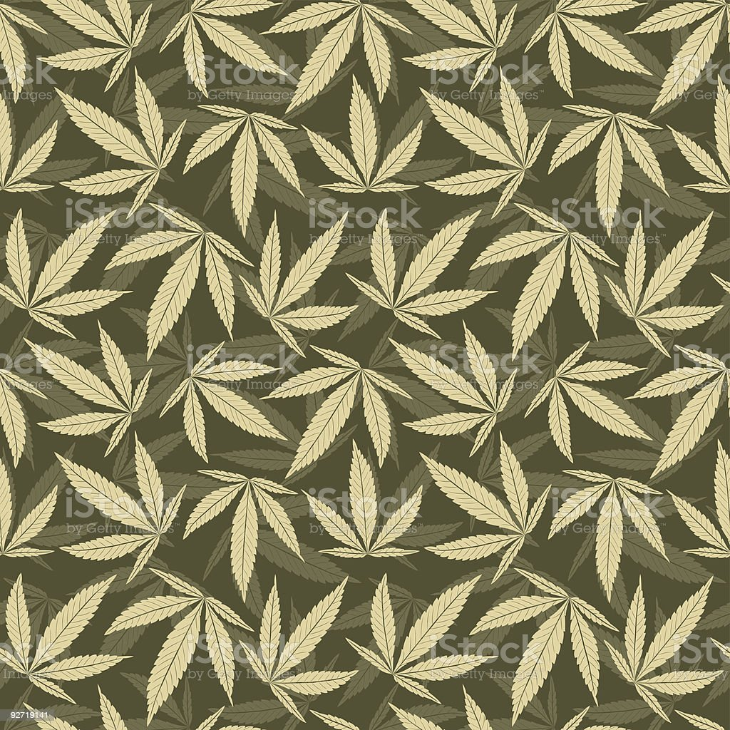 Marijuana leaves pattern in various shades of green royalty-free stock vector art