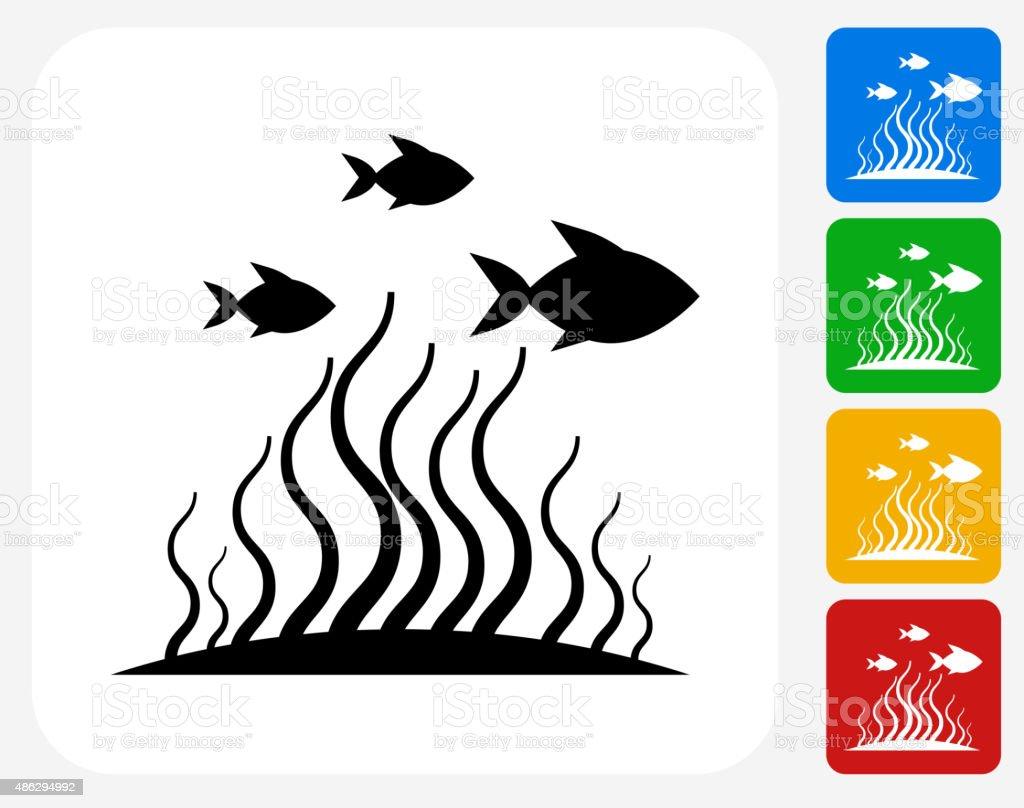 Marine Animals Icon Flat Graphic Design vector art illustration
